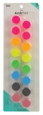 Nicole Acrylic Paint Pots, 16ct- Neon Assortment