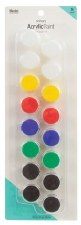 Nicole Acrylic Paint Pots, 16ct- Primary Assortment