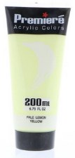 Premiere Acrylic Colors, 200ml- Pale Lemon Yellow