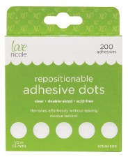 Adhesive Repositional Dots 200ct- 1/2""