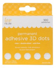 Adhesive 3D Dots 100ct- 1/2""