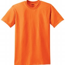 Adult T-Shirt- Safety Orange, Medium