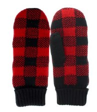 Great Northern Buffalo Check Knit Mitten- Adult Unisex