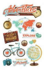 Adventure at Heart 3D Stickers