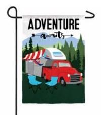 Garden Flag, Suede- Adventure Awaits