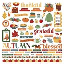 Autumn Greetings Sticker Sheet