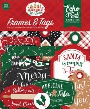 A Gingerbread Christmas Ephemera- Frames & Tags