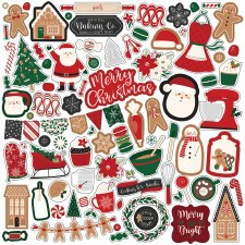 A Gingerbread Christmas Sticker Sheet