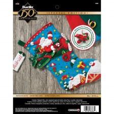 Bucilla Felt Stocking Kit- Airplane Santa
