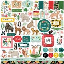 Animal Kingdom 12x12 Element Sticker Sheet
