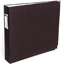 We R Memory Keepers 12x12 D Ring Album- Black Linen