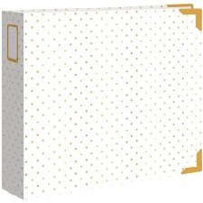 We R Memory Keepers 12x12 D Ring Album- Cream with Gold Dots