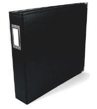 We R Memory Keepers 12x12 Classic Leather 3-Ring Album- Black
