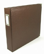 We R Memory Keepers 12x12 Classic Leather 3-Ring Album- Brown