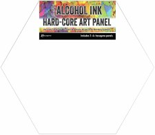 Alcohol Ink Art Panel, 3pk- Hexagons