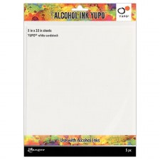Alcohol Ink Yupo 8x10 Cardstock- 5pk