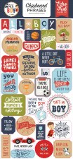 All Boy Chipboard- Phrases