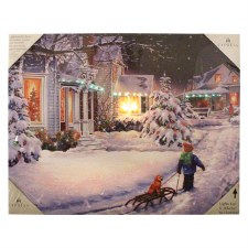 Christmas Lighted Canvas- All is Calm & Bright