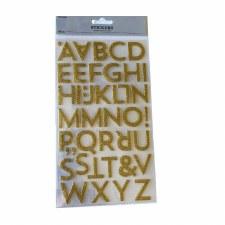 Alphabet Stickers - Gold Glitter