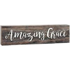 Skinny & Small Wood Sign- Amazing Grace