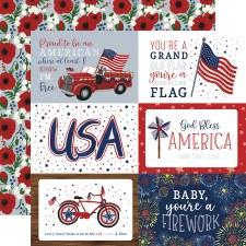 America the Beautiful 12x12 Paper- 4x6 Cards