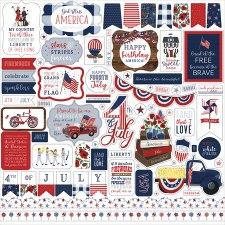 America the Beautiful 12x12 Sticker Sheet