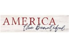 Skinny & Small Wood Sign- America the Beautiful