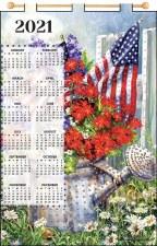 Jeweled 2021 Calendar - American Garden