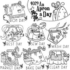 Aunt Martha's Iron On Transfers- An Apron Day #4029