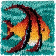 Latch Hook 12x12 Kit- Angel Fish