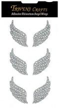 Adhesive Rhinestones- Angel Wings