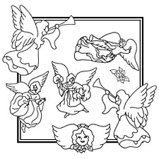 Aunt Martha's Iron On Transfers- Angels #3887