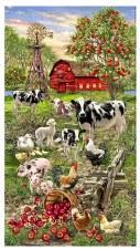 Farm & Country Fabric Panel- Animals on the Farm
