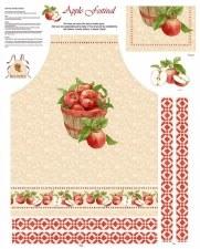 Fabric Panel, Apron- Apple Festival