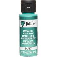 FolkArt 2 Oz. Metallic Acrylic Paint- Aquamarine