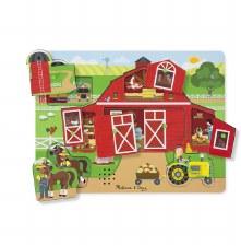 Melissa & Doug Sound Puzzle- Around the Farm