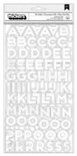 Art Walk Stickers- White Chipboard Alphabet Thickers