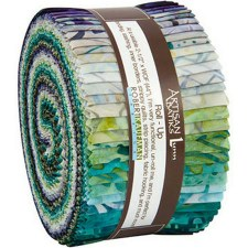 Roll-Up Fabric Strips- Artisian Batiks: Terrace