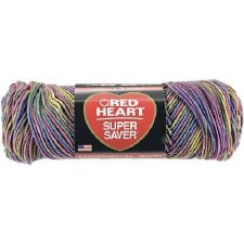 Red Heart Super Saver Yarn, Mulit-Color- Artist Print