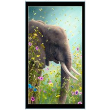 Animals Fabric Panel- Elephant