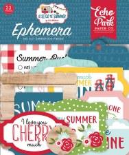 A Slice of Summer Ephemera Die Cuts