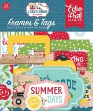 A Slice of Summer Ephemera Die Cuts- Frames & Tags