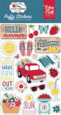 A Slice of Summer Puffy Stickers