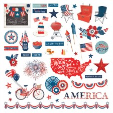 America the Beautiful Sticker Sheet