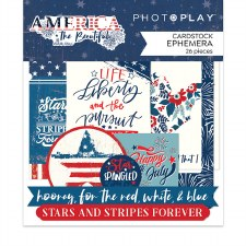 America the Beautiful Ephemera Die Cuts
