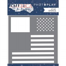 America the Beautiful 6x6 Stencil- Flag