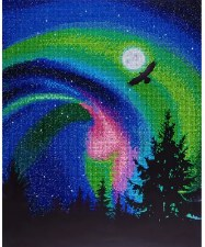 Diamond Facet Art Kit- Aurora Borealis Eagle