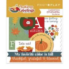 Autumn Greetings Ephemera Die Cuts