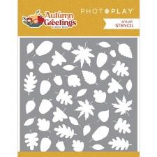 Autumn Greetings 6x6 Stencil