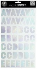 MAMBI Stickers- Alphabet- Ava Rainbow Foil
